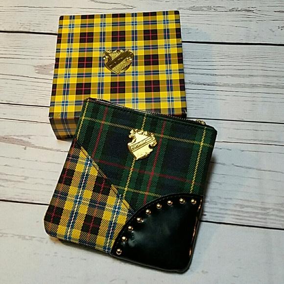 MAC Cosmetics Handbags - MAC tartan plaid purse makeup bag